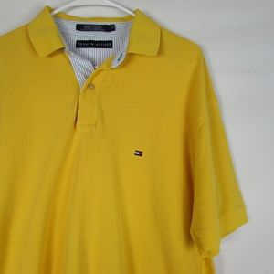 Tommy Hilfiger Yellow Large Short Sleeve Polo